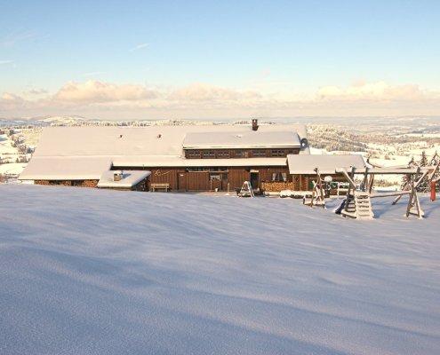 Neuschnee auf der Höfle-Alp in Kranzegg